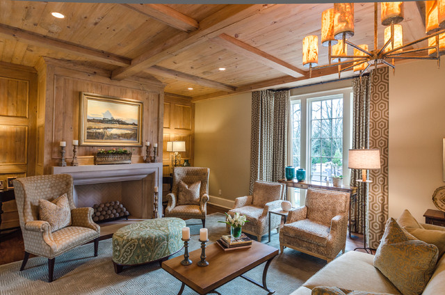 Asymmetrical French Eclectic Traditional Living Room Other By Farris Concepts In