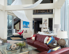 At Silo Point beach-style-living-room