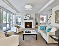 Atherton Farmhouse transitional-living-room