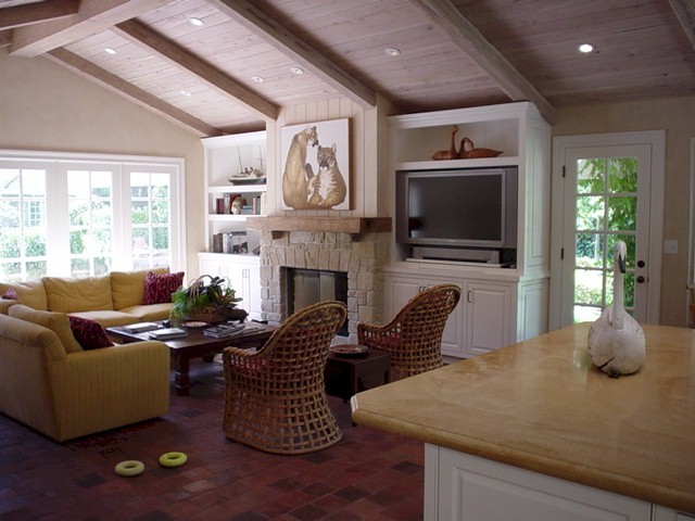 Atherton Kitchen / Family Room traditional-living-room