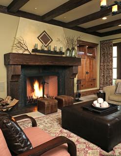 Atherton Residence mediterranean living room