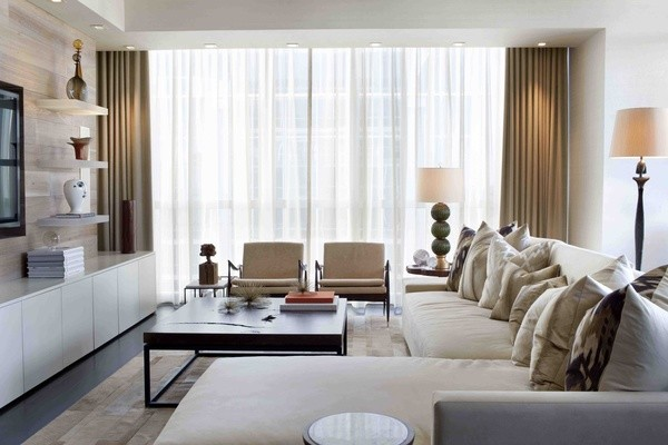 Atlanta Buckhead Condo Interior Modern Living Room