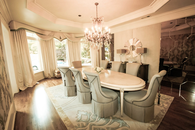 Atlanta Country Club Residence traditional-dining-room