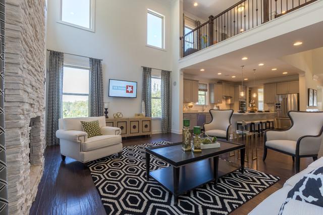 atlanta ga beazer homes communities midcentury living room atlanta by beazer homes. Black Bedroom Furniture Sets. Home Design Ideas