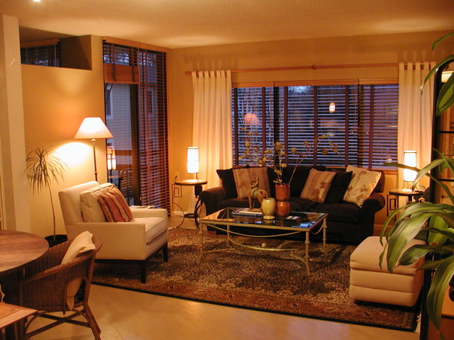 atlanta highrise condo contemporary living room