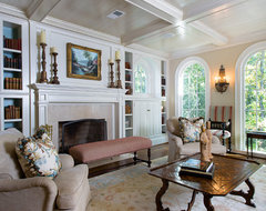 Atlanta residence traditional living room