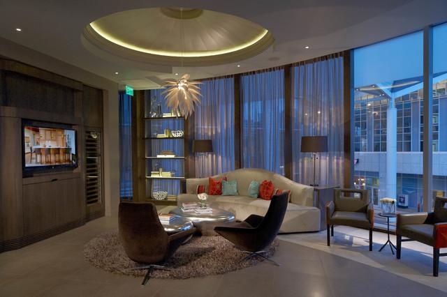 Buckhead showroom contemporary living room atlanta for Showroom living room ideas