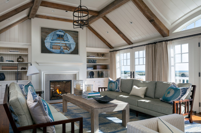 Atlantic Drive Double Gable Beach Style Living Room