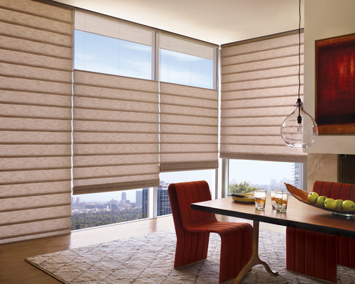 8 window decor ideas to deal with a bad view for Modern living room blinds