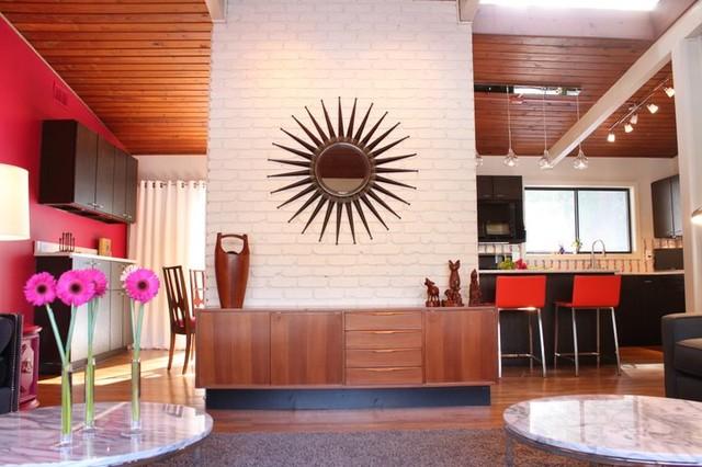 Atomic Ranch Renovation Modern Living Room Atlanta