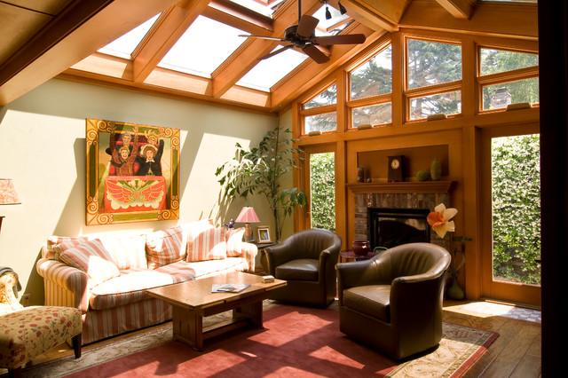 Atrium Addition Eclectic Living Room San Francisco