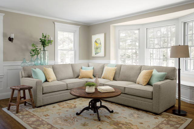 Boston Interiors Furniture Accessories Atwood 2 Pc Sectional Transitional Living Room