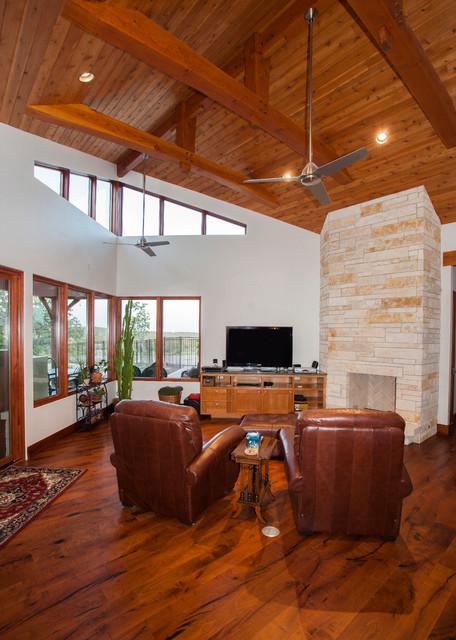 Austin Hybrid Home traditional-living-room