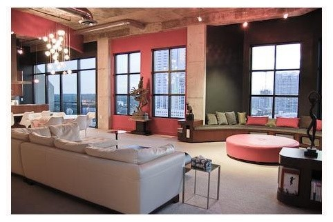 Austin Penthouse Renovation contemporary-living-room