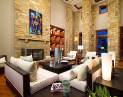 Austin Ranch eclectic-living-room