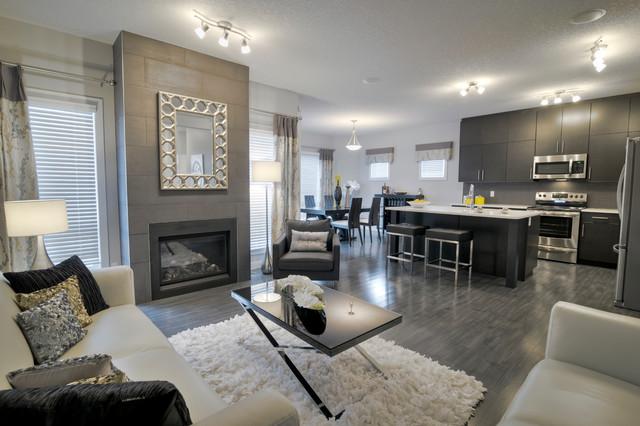 Austyn Ii B Contemporary Living Room Edmonton By