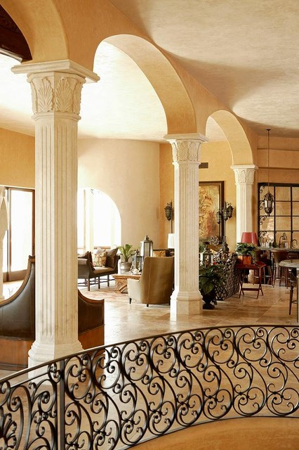 Authentic Durango Veracruz Custom Columns Mediterranean Living Room Ph