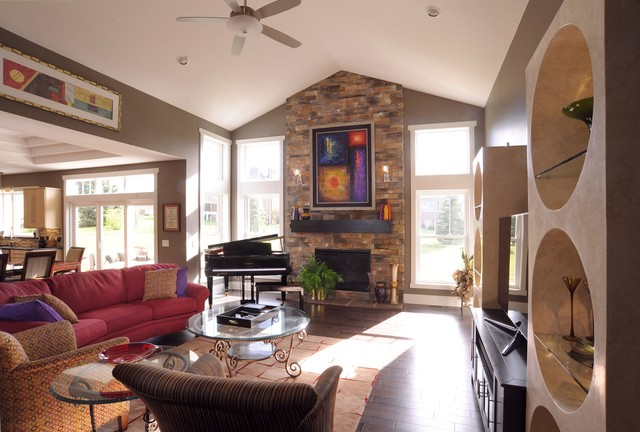 Autumn Run Custom Home traditional-living-room