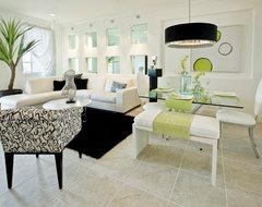 Avalon Model Home contemporary-living-room