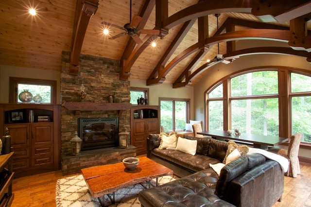Award winning addition rustic living room other by atelier design llc for Award winning living room designs