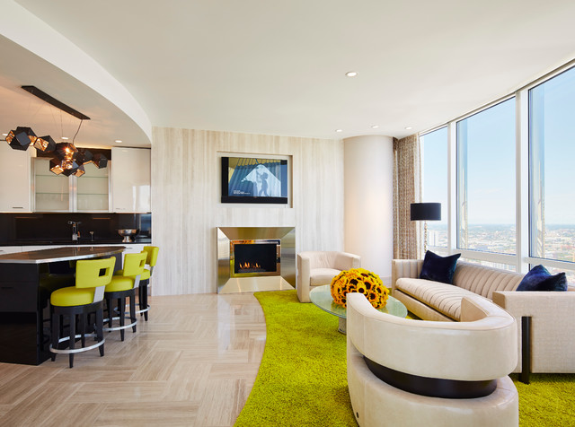 Award Winning Combo Unit At Trump Tower Chicago Modern Living Room Chicago By John