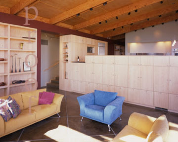 Award winning new home in Geyserville contemporary-living-room