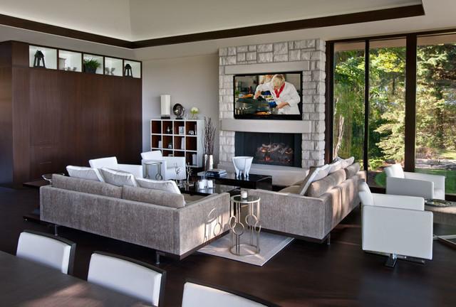 Http Houzz Com Photos 37613216 Award Winning Design Home Michigan Modern Living Room Detroit