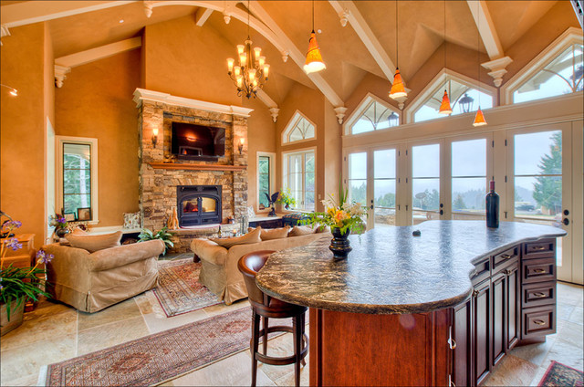 Award Winning New Home In Cazadero Mediterranean Living Room San Francisco By Leff
