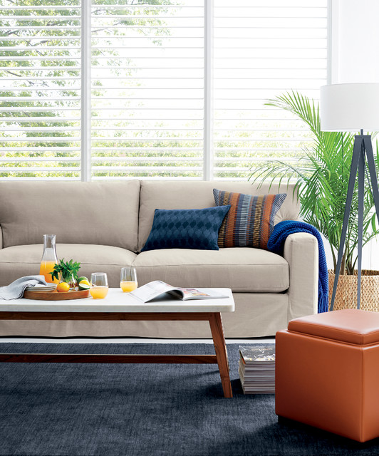axis ii slipcovered 2 seat sofa contemporary living