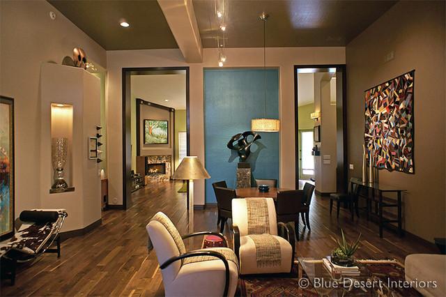 extraordinary houzz contemporary living room | AZ Modern Ranch - Contemporary - Living Room - phoenix ...
