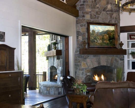 Inside Outside Fireplace Design Ideas Pictures Remodel