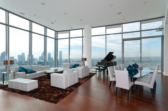 Azure Penthouse Contemporary Living Room Dallas By