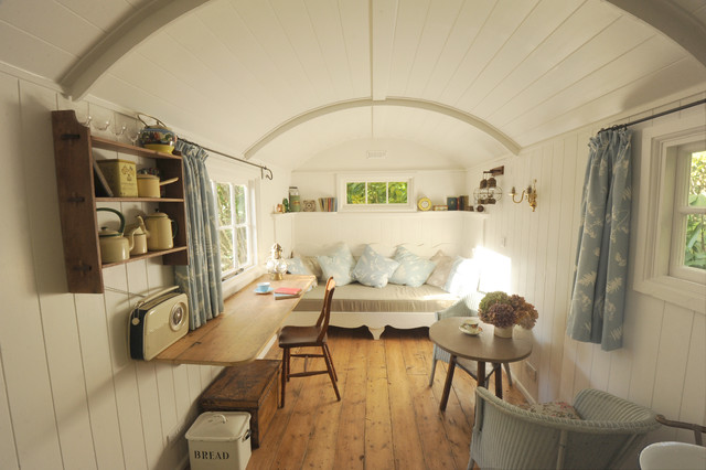 B B Shepherd Huts Shabby Chic Style Living Room Sussex By