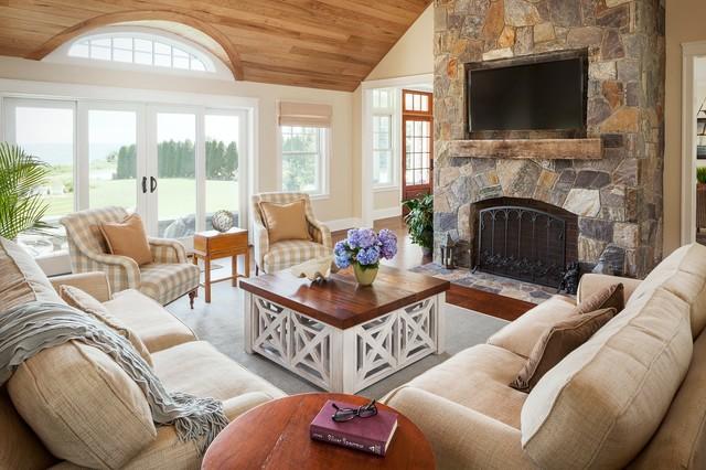 """B"" Residence, Kennebunkport traditional-living-room"