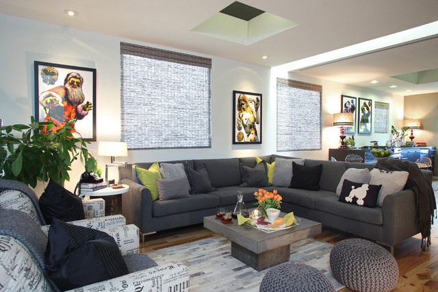 Bachelor on a budget eclectic living room los for Bachelor bedroom ideas on a budget