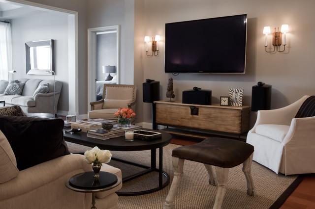 Bachelor Pad Modern Wohnbereich Baltimore Von Elizabeth Reich