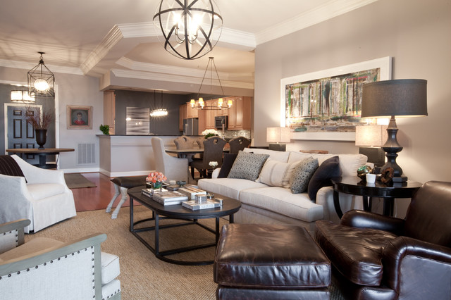 Bachelor Pad Contemporary Living Room Baltimore By