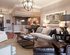 Bachelor Pad contemporary-living-room