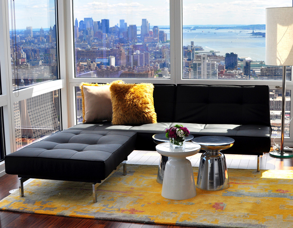Inspiration for a contemporary open concept living room remodel in New York