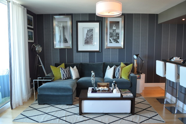 bachelor pad makeover - contemporary - living room - miami -