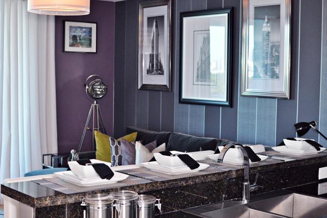 Bachelor Pad Makeover contemporary-living-room