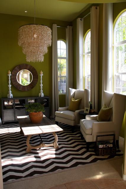 fabulous modern orange living room | Bachelor Pad Modern Cigar Room