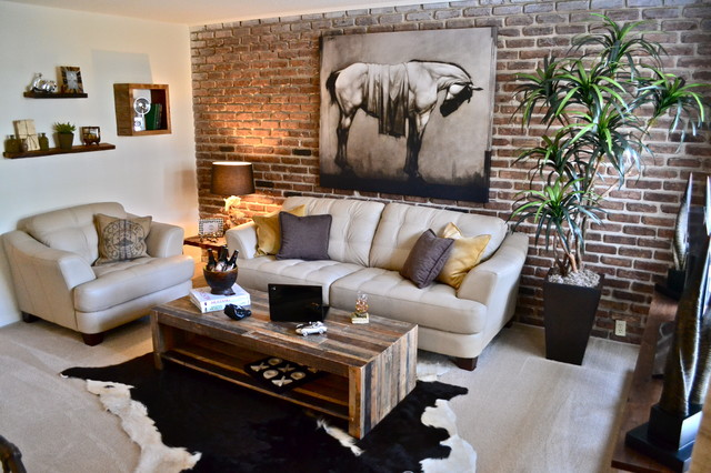 Bachelor Pad Contemporary Living Room Houston By Purdy