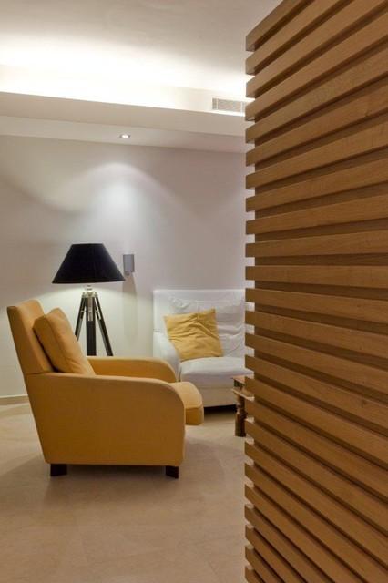 Bachelor's apartment modern-living-room