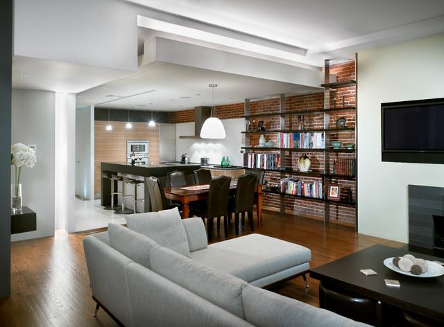 Back Bay Home Renovation traditional-living-room