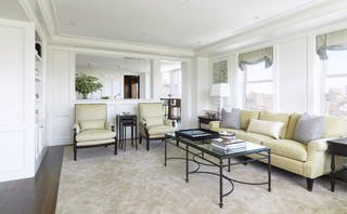 Back Bay Pied A Terre Traditional Living Room Boston