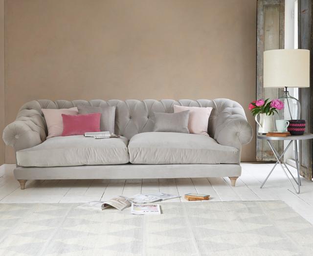 Bagsie Sofa In Smoky Grey Clever Velvet, Loaf Sofa Reviews
