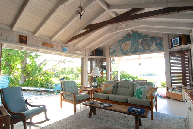 Bahamian Open House Tropical Living Room By Brenda Olde