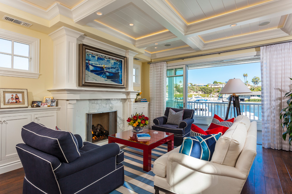 Balboa Island 221 East Bay Front Beach Style Living Room Orange County By Ian Harrison Architect
