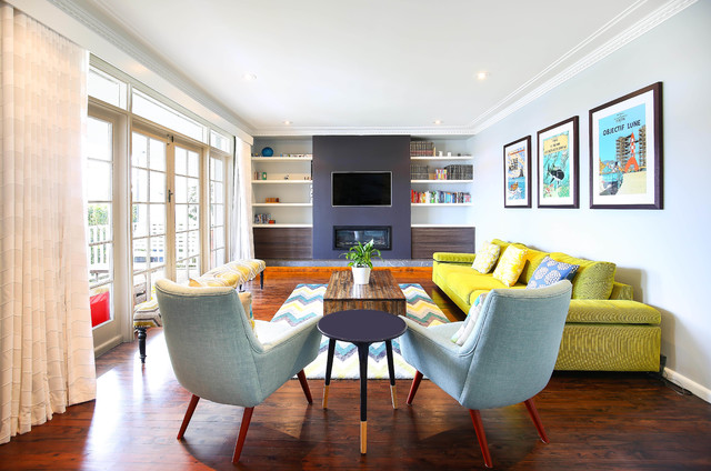 Balgowlah Heights Residence Madecomfy Short Term Rental Midcentury Living Room Melbourne